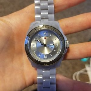 Gray Tommy Hilfiger sports watch